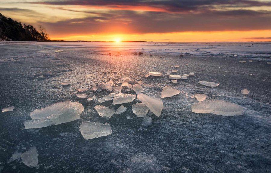Eis am Achterwasser
